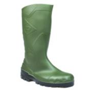 Dunlop. Devon H142611 Safety Wellington Boots Green Size 7