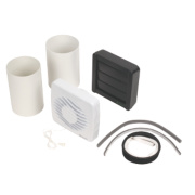 Xpelair DX100PC 12W Axial Bathroom Extractor Fan with Pullcord