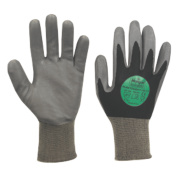 Marigold Industrial P1100i Puretough P/C Gloves Large Black