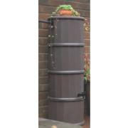 Polytank Decorative Water Butt Dark Oak Effect 110Ltr