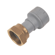 PolyPlumb Straight Tap Connector 15mm x ½
