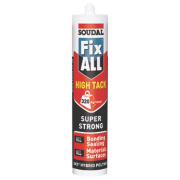 Soudal Fix All High Tack Adhesive & Sealant White 290ml
