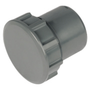 FloPlast ABS Access Plugs Grey 40mm Pack of 5