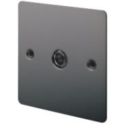 LAP 1-Gang TV Coaxial Socket Black Nickel