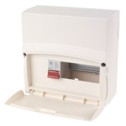 MK Sentry 8-Module 6-Way Consumer Unit with 100A DP Main Switch