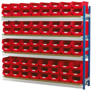 Toprax Longspan Extension Bay Red 1780 x 328 x 1500mm