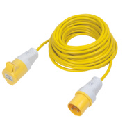 CED 110V Extension Lead Yellow 1.5mm x 14m