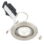 LAP Adjustable Round Low Voltage Downlight Brushed Chrome 12V