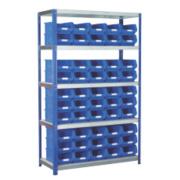 Barton Ecorax Shelving Blue 1200 x 450 x 1800mm