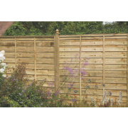 Larchlap Solway Fence Panels 1.8 x 1.8m Pack of 8