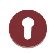 Euro Profile Escutcheon Ruby Red