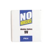 No Nonsense Alkaline Batteries 9V Pack of 4