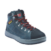 Cat Brode Hi Safety Boots Navy Size 10