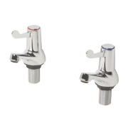H and C ¼ Turn Bath Taps Pair