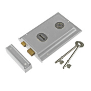 Century Rim Sash Lock Chrome 150 x 100mm