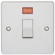 Crabtree 20A DP Switch & Neon
