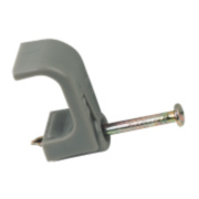 Tower Cable Clips Grey For Twin & Earth Cable 6mm Pack of 100