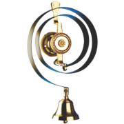 Bryon Mechanical Butlers Bell Black/Brass