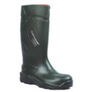Dunlop Purofort+ C762933 Safety Wellington Boots Green Size 14