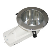 ASD Atom™ Round Mains Voltage Downlight Fixed CFL Brushed Chrome 240V