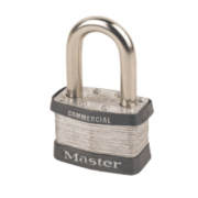 Master Lock Laminated Padlock with Long Shackle 51mm
