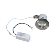Robus Fixed Round Fire Rated Downlight Brushed Chrome 12V Pk10