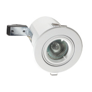 Robus Adjustable Round Mains Voltage Fire Rated Downlight White 240V