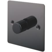 LAP 1-Gang 2-Way Push Dimmer Switch 400W/400VA Black Nickel