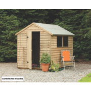 Larchlap Overlap Pressure Treated Shed 8 x 6 x 7' (Nominal)