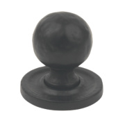 Fingertip Design Traditional Door Knob Hammered Antique Black 27mm