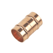 Solder Ring Straight Couplers 22mm Pack of 2
