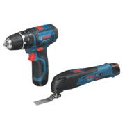 Bosch 0615990FL6 10.8V 1.5Ah Li-Ion Twin Pack Combi Drill & Multi-Cutter