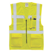 Hi-Vis Executive Waistcoat Yellow Medium 40-41