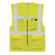 Hi-Vis Executive Waistcoat Yellow Medium 40-41