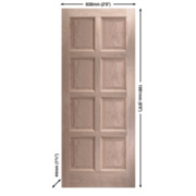 Jeld-Wen Montoya Exterior Door Unfinished Oak Veneer 838 x 1981mm