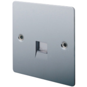 LAP 1-Gang Slave Telephone Socket Polished Chrome