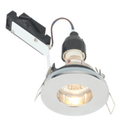 LAP Fixed Round Mains Voltage Bathroom Downlight Polished Chrome 240V