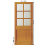 Jeld-Wen 6-Light Double-Glazed Exterior Door Unfinished 762 x 1981mm