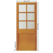 Jeld-Wen Hatfield 6-Light Double-Glazed Exterior Door Unfinished Meranti Veneer 762 x 1981mm