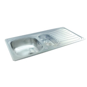 Carron Phoenix Kitchen Sink S/Steel 1½ Bowl Reversible Drainer 965 x 160mm