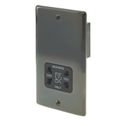 British General Dual Voltage Shaver Socket 115/230V Black Nickel