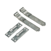 Gate Hinge Spelter Galvanised 40 x 356 x 150mm