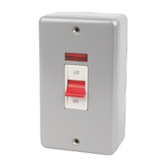 MK 2-Gang 45A DP Switch with Neon Metal-Clad