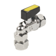 Angled Mini Ball Valve 10mm