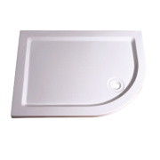 Aqualux Aqua 55 Offset Quadrant Shower Tray Right Hand 800 x 1200 x 55mm