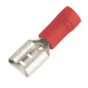 Insulated Crimp Red Female Push-On Pack of 100