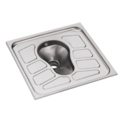 Franke Inset Squatting Pan with Back Inlet Stainless Steel 700 x 700 x 32mm