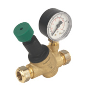 Honeywell Pressure Reducing Valve with Gauge 15mm