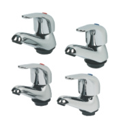 Swirl Single Lever Bathroom Basin & Bath Tap Pack