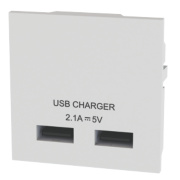 LAP USB Charger Grid Module White
